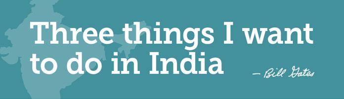 Bill Gates Trip to India 2