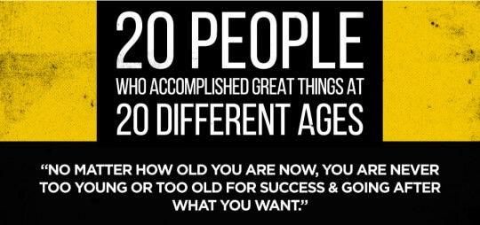 20 People Who Accomplished Great Things At Different Ages 9