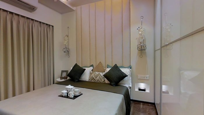 Omkar Meridia 2 BHK Grand Bedroom